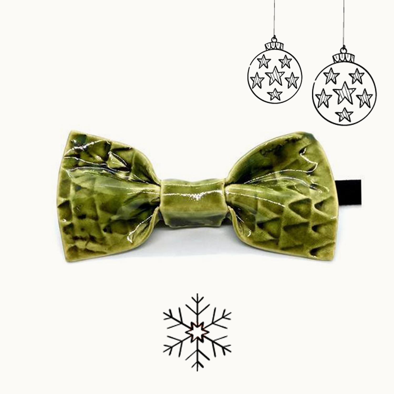 Bowtery Campiña Handmade Ceramic Bow tie. Pajaritas de cerámica hechas a mano. Regalos originales de navidad