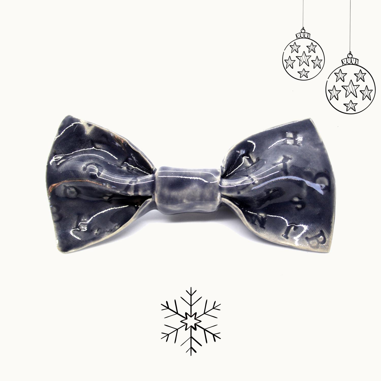 Bowtery Andaluz Handmade Ceramic Bow tie. Pajaritas de cerámica hechas a mano. Regalo de navidad original