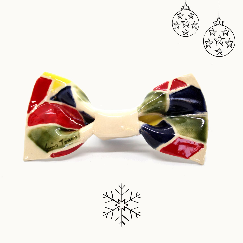 Bowtery Gaudi Handmade Ceramic bow ties. Pajaritas de cerámica hechas a mano. Regalos originales de navidad